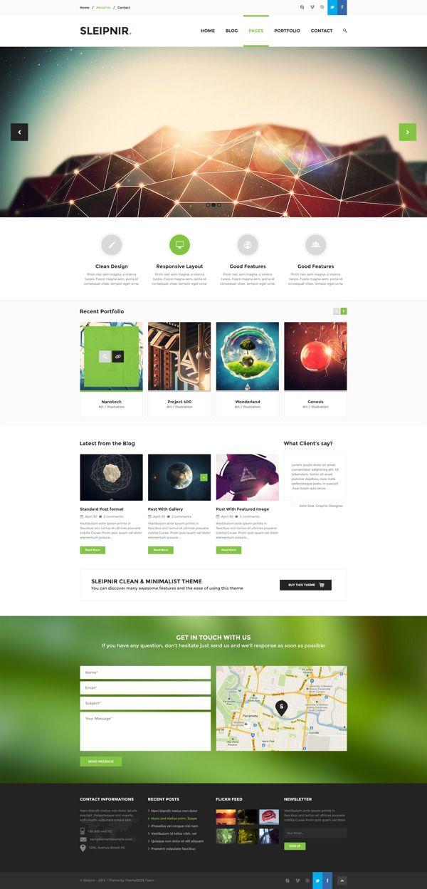 Sleipnir - PSD Template by Zizaza - design ocean , via Behance