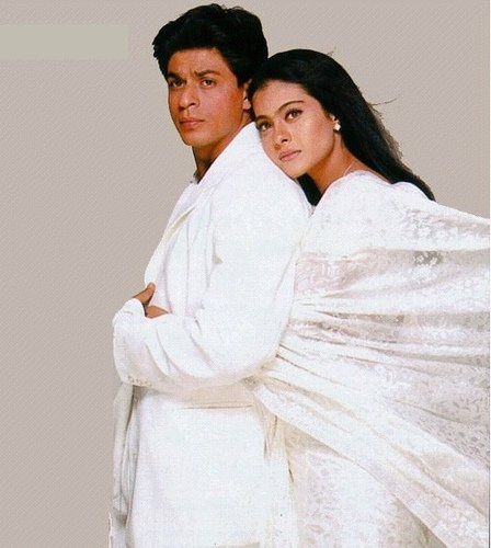 see more KAJOL AND SRK IN WHITE DRESSES