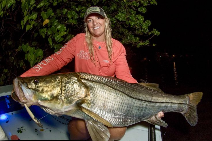 Congratulations To Gina For Catching This Incredible 49 Snook This Fish Exceeds The Current