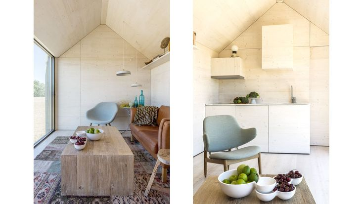 Abaton: Portable Home APH80. ÁPH80 view of the livingroom and kitchen