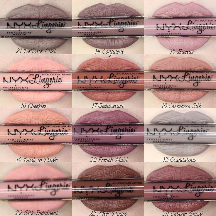 "38.6 m Gostos, 470 Comentários - NYX Professional Makeup (@nyxcosmetics) no Instagram: ""12 sultry shades of our Lip Lingerie liquid lipsticks worn by @baileyvanderveen Shop these and…"""