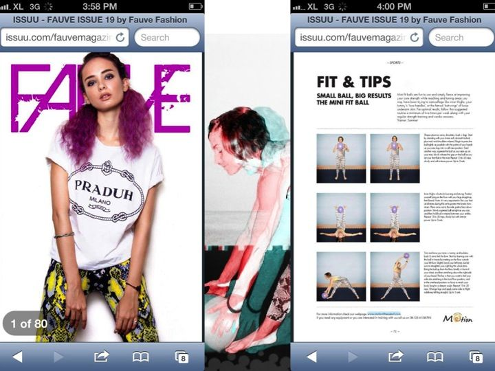 as seen in Fauve Magazine, me and some workout moves. having fun. living strong.
