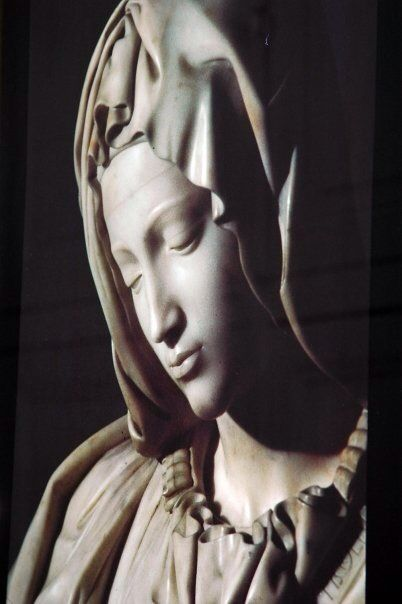 the reflected image of the Virgin Mary , Lourdes #vacation