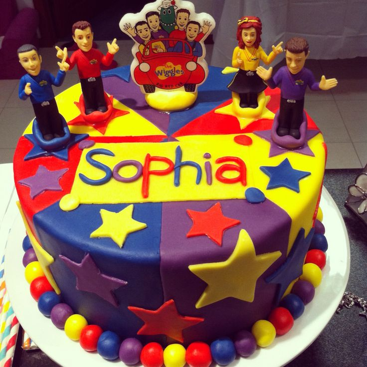 Sophia's 2nd Birthday Wiggles Cake