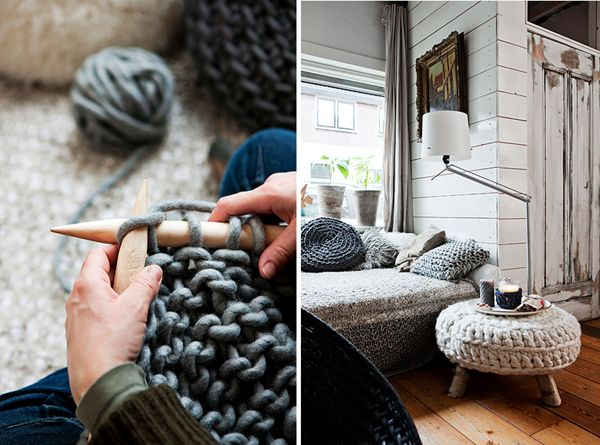 knit.....now I have to find this size needles: Crafty Stuff, Cozy Abod, Crafts Ideas, Knits Crochet, Big Knits, Yarns, Gorgeous Ideas, Yellow Doors, Knits Needle