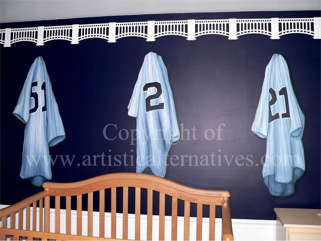 Five Yankees Sports Shirts Including 3 Home Jerseys And 2 Away Jerseys Have  Been Painted On Part 62
