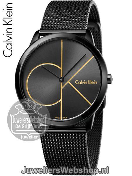 Calvin Klein Minimal K3M214X1 Horloge Heren Zwart . Collectie 2017 #calvinklein #ckwatch #herenhorloges #juwelierswebshop