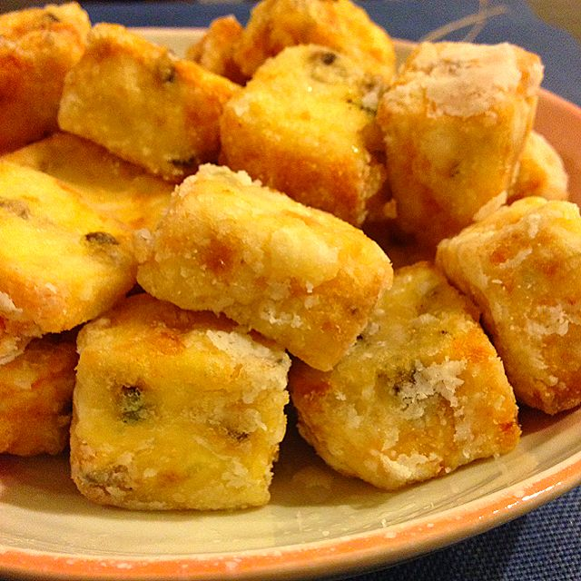 Deep Fried Seafood Tofu (招牌豆腐, Zhao Pai Tofu) - coasterkitchen  - Dayre
