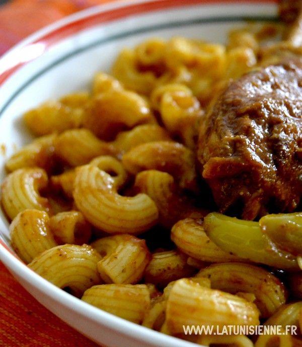 Pâtes tunisiennes au poulet fermier – Maqrouna be djej el3arbi