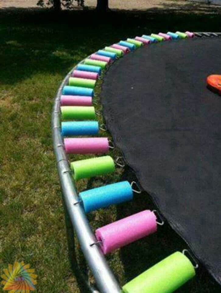 Good idea....repurposing pool noodles to cover springs