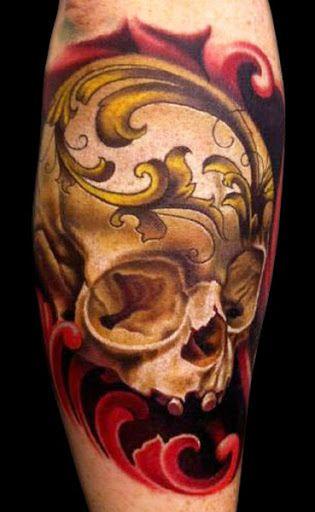 Realism Skull Tattoo by Nikko Hurtado