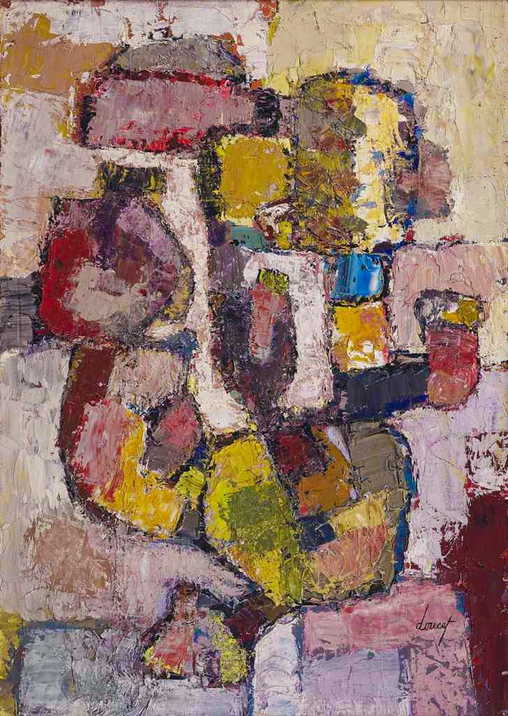 Jacques Doucet (1924-1994) Untitled signed 'doucet' (lower right) oil on canvas 65.5 x 46.5 cm. Painted in 1955