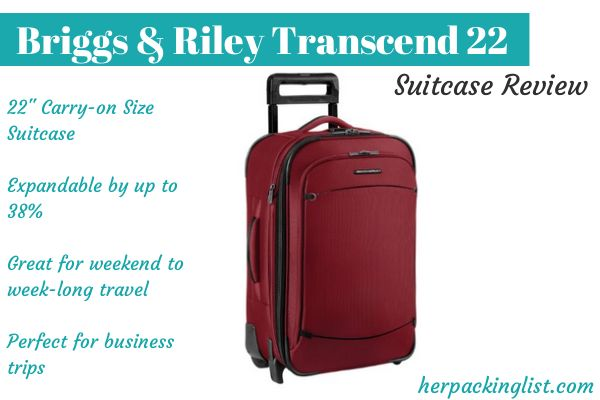 Briggs & Riley transcend 22 review