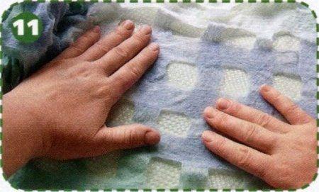 Валяние шарфа сетки: мастер-класс по изготовлению своими руками