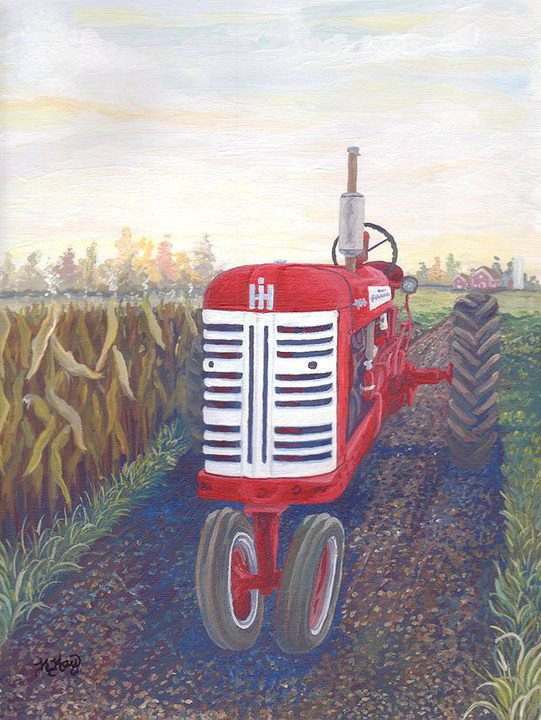Farmall Tractor Painting : Images about farmal on pinterest john deere