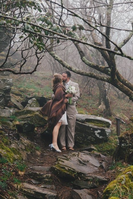 Real Weddings: Krista and Kristofer's North Carolina Mountain Wedding with 4 guests