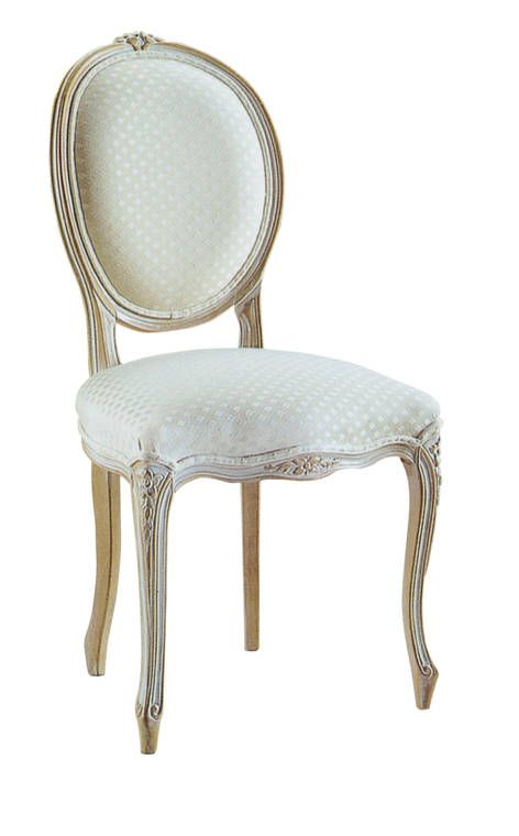 louis xv oval back dining chair french provincial furniture