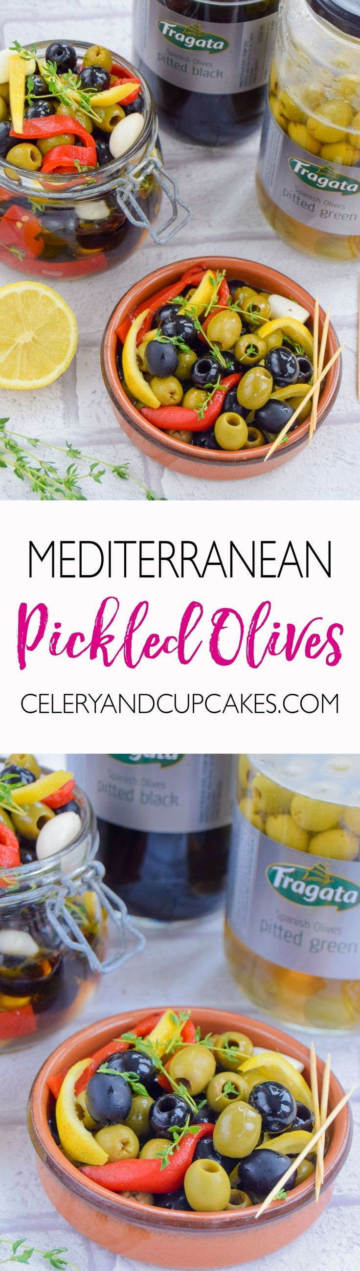Is your summer a complete washout? Reclaim your summer, by bringing the sunshine indoors with these Mediterranean pickled olives with roasted red peppers and garlic.