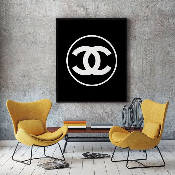 Coco Chanel logo poster coco chanel  logotype coco by Osanty
