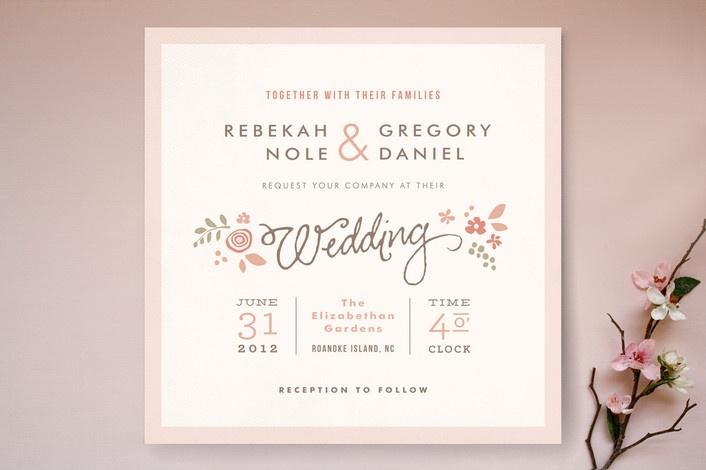 Pink Blossoms Wedding Invitations by Jennifer Wick | Minted