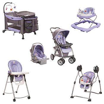 purple winnie the pooh travel system | Disney Winnie The Pooh Garden Purple Baby Gear Bundle