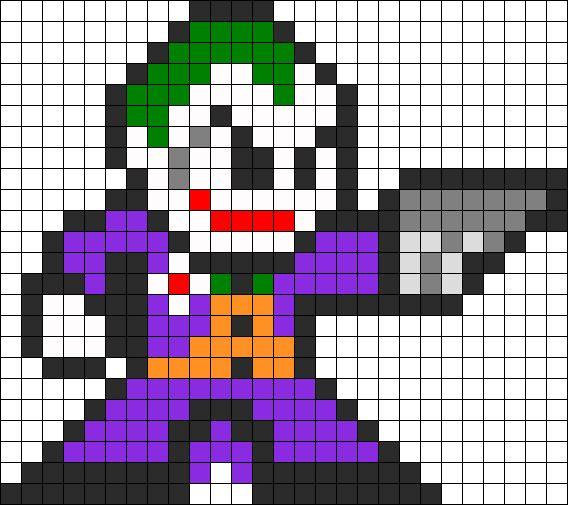 Drawing Lines With Pixels : Joker perler bead pattern bit pinterest sting