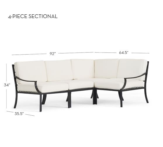 Riviera Sectional Set | Pottery Barn. Outdoor ...