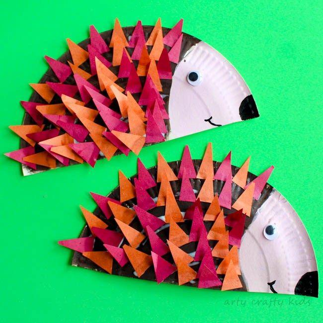 paper plate hedgehog craft - photo #20