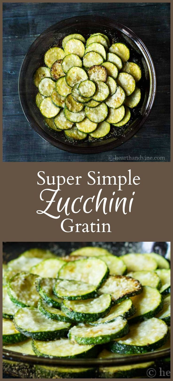 This super simple zucchini gratin super tasty and easy enough to make any day of the week. It's also pretty enough to serve to your favorite guests.