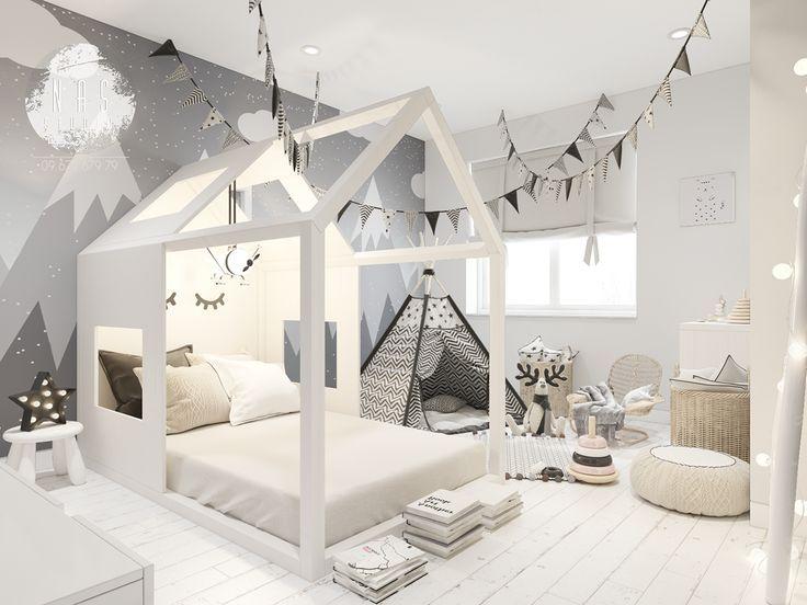 Kinderzimmer im skandinavischen Stil im Behance