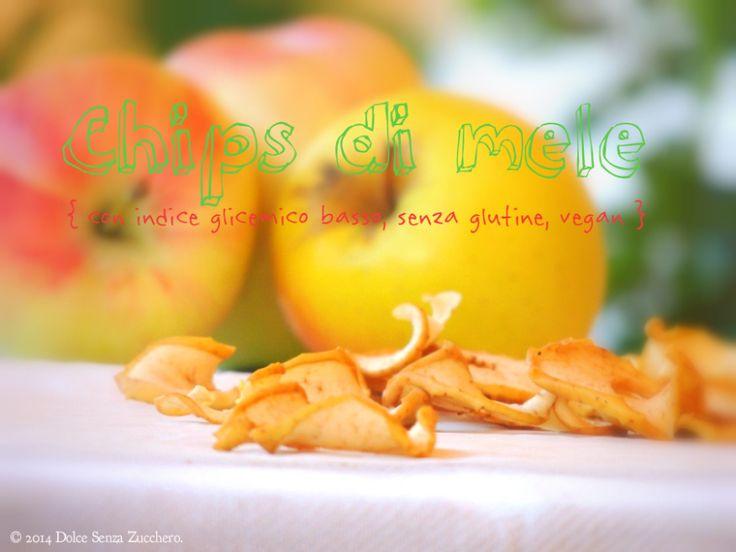 Chips di Mele (Senza Zucchero nè Glutine) | Dolce Senza Zucchero