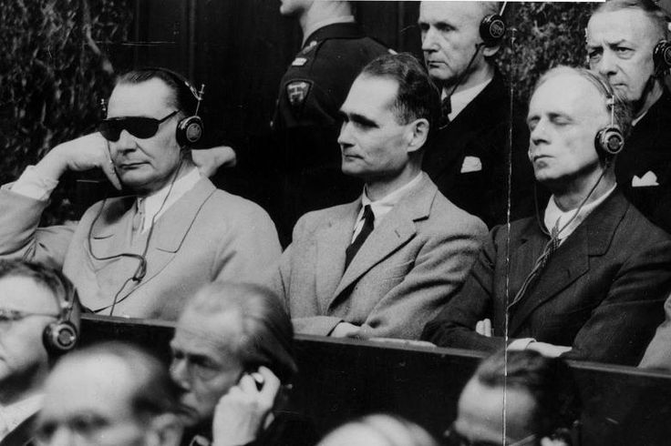 """peashooter85: """" The Madness of Rudolf Hess During the Nuremberg Trials in 1945-1946, one of the most complicated questions of the trial was if one of the defendants, Rudolf Hess, former Deputy Fuhrer..."""