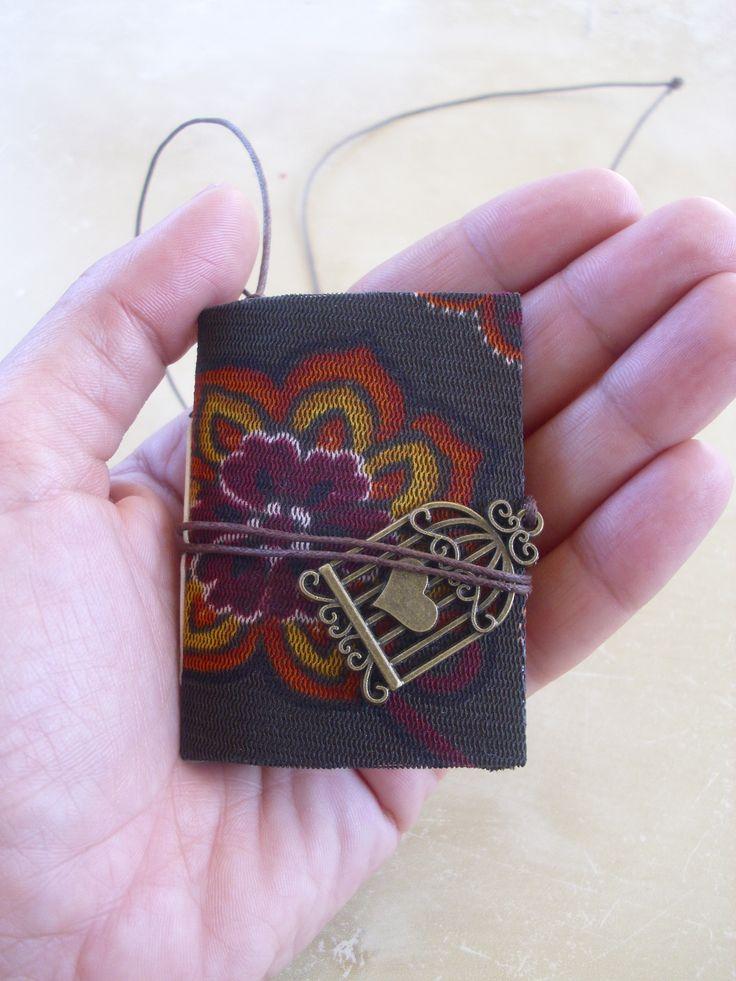 FLORAL Mini Junk Journal Pendant