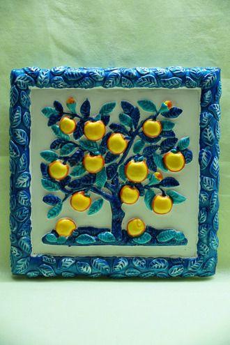 Большая Яблоня (зима) - декоративное панно