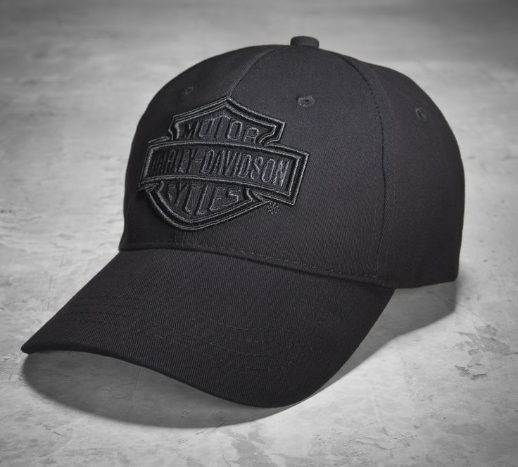 A stealthy men's baseball cap. #ValentinesDay | Harley-Davidson Men's Phantom Logo Cap
