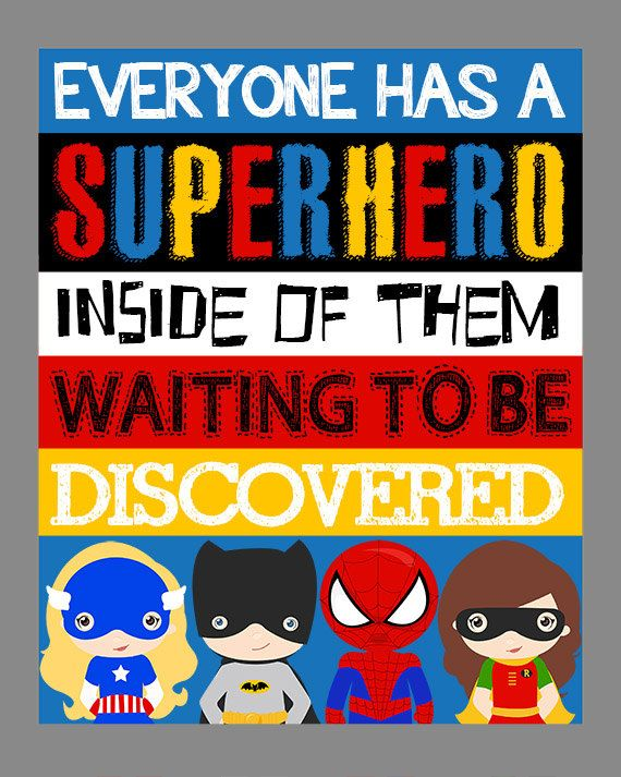 Superhero Wall Art. Superhero Room Decor. by LittleLifeDesigns