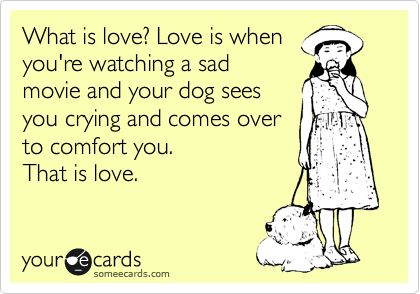 So true!! :) a dog's unconditional love