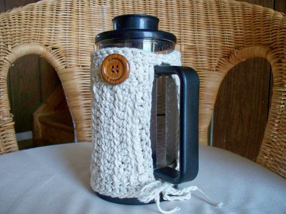 French Press Cozy Coffee Bodum by soulybarb on Etsy, $22.00   I totally need one for my Bodum press