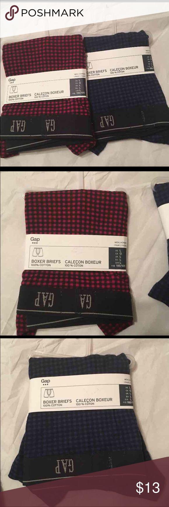 2 Gap Men's Boxers Briefs 2 Gap men's boxers briefs 100% cotton  Red and Navy GAP Underwear & Socks Boxer Briefs