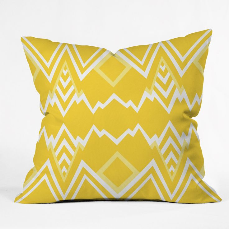 Recliner Sofa Elisabeth Fredriksson Wicked Valley Pattern Yellow Throw Pillow
