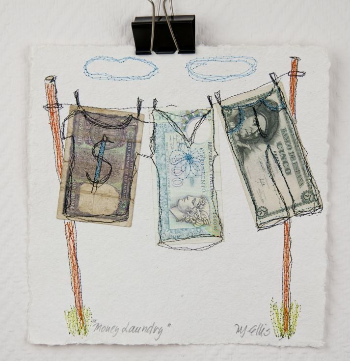 Buy Money Laundry, mixed media collage, paper, Collage by Mariann Johansen-Ellis on Artfinder. Discover thousands of other original paintings, prints, sculptures and photography from independent artists.