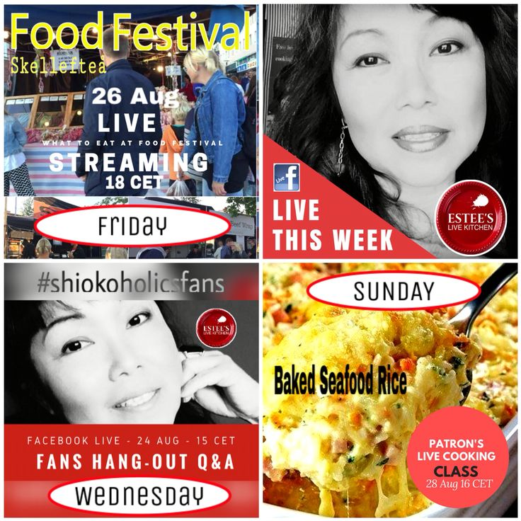 24-28 August Live Stream Food Festival #seafood #rice
