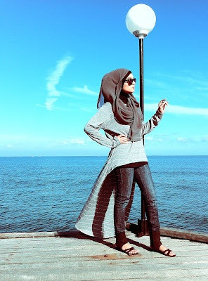 hijab style, I have a dress version and skirt versions of this top...they really look great over jeans (I recommend boot cut/trousers for more modesty).