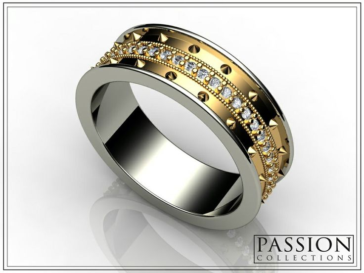 PC306YGD 14K Two Tone #Gold 47 White #Diamonds (.39ct/tw) #Ring #Jewelry #customjewelry