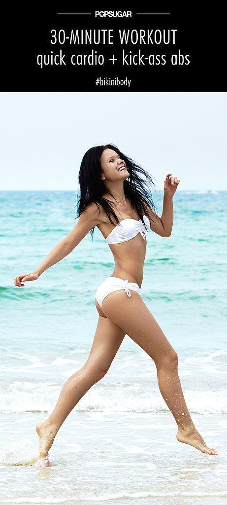 A Bikini Combo Workout: Quick Cardio and Kick-Ass Abs