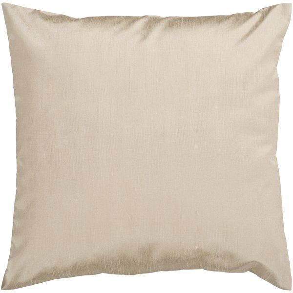 Champagne colored Appley Solid Luxe Synthetic Throw Pillow |Birch Lane