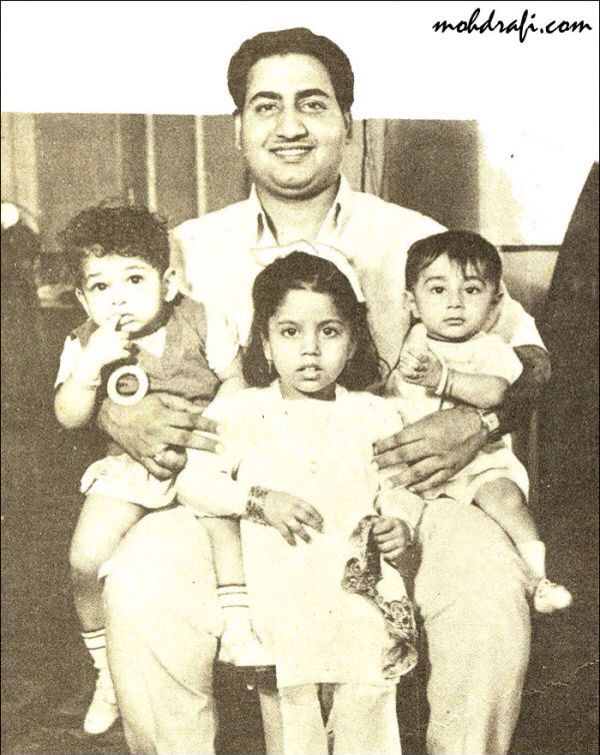 Childhood & Family pictures: Mohammad Rafi and kids