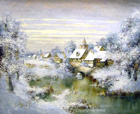 Willi Bauer, Snow Rothenburg Ob Der Tauber.