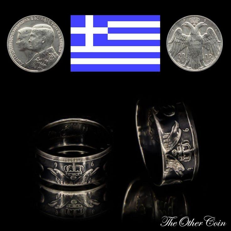Heute der passende Münzring zu dem gestern veröffentlichen Kettenanhänger. Es wurde dieselbe Art der Münze für beide Schmuckstücke verarbeitet. Preis 45€  Year - Jahr - Год:  1664 30 Drachmen (Griechenland) Sonderprägung zur Hochzeit von Konstantin II. mit Annemarie von Dänemark Material - Материал: 835er Silber  Weight - Gewicht - Вес: ca. 10g Ring Size - Ring Größe - Размер кольца: 18.1 mm(8US) - 22mm(12,6US) Height - Höhe - высота: 10mm