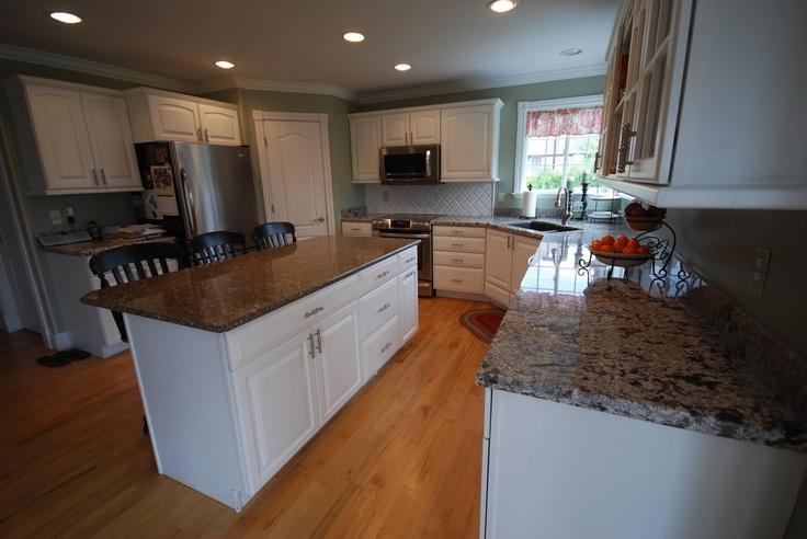 White Kitchen Cabinets With Granite Grey